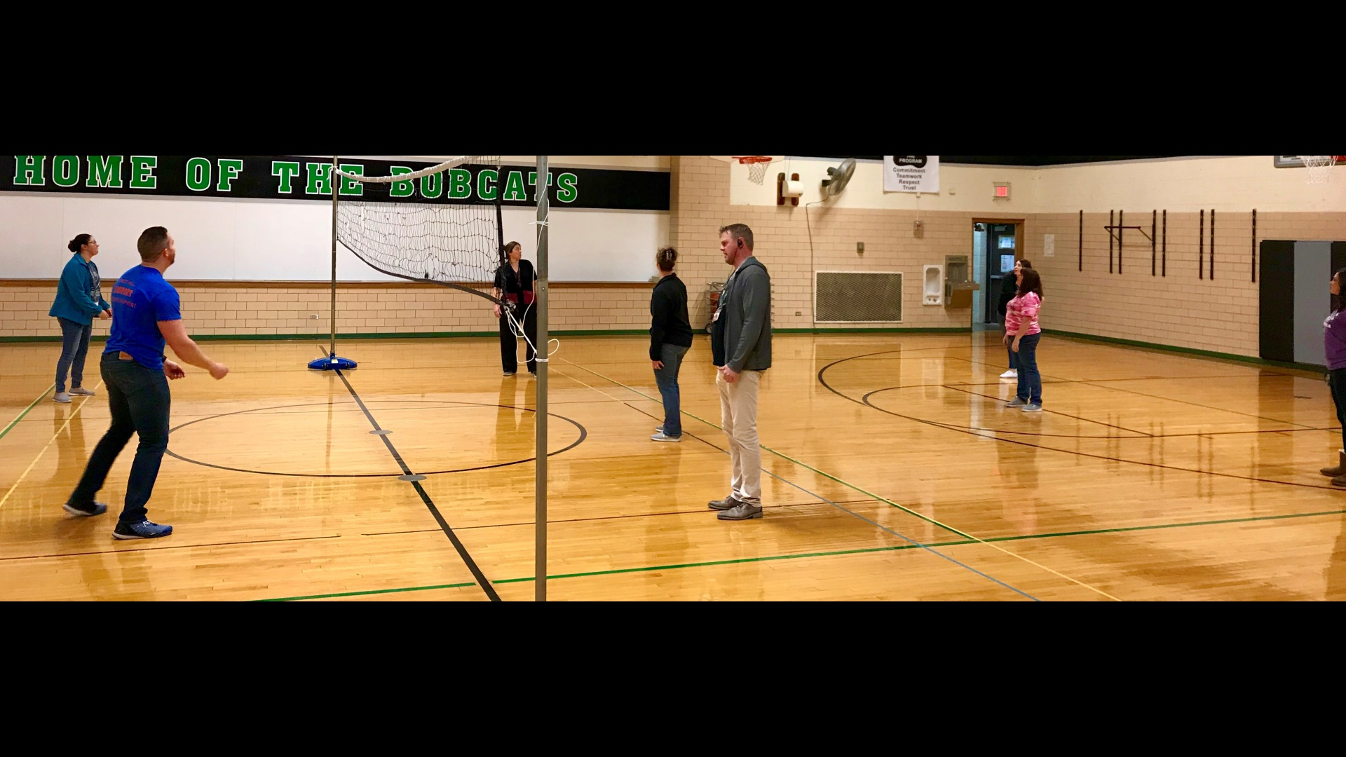 Staff vs. Staff Volleyball Game