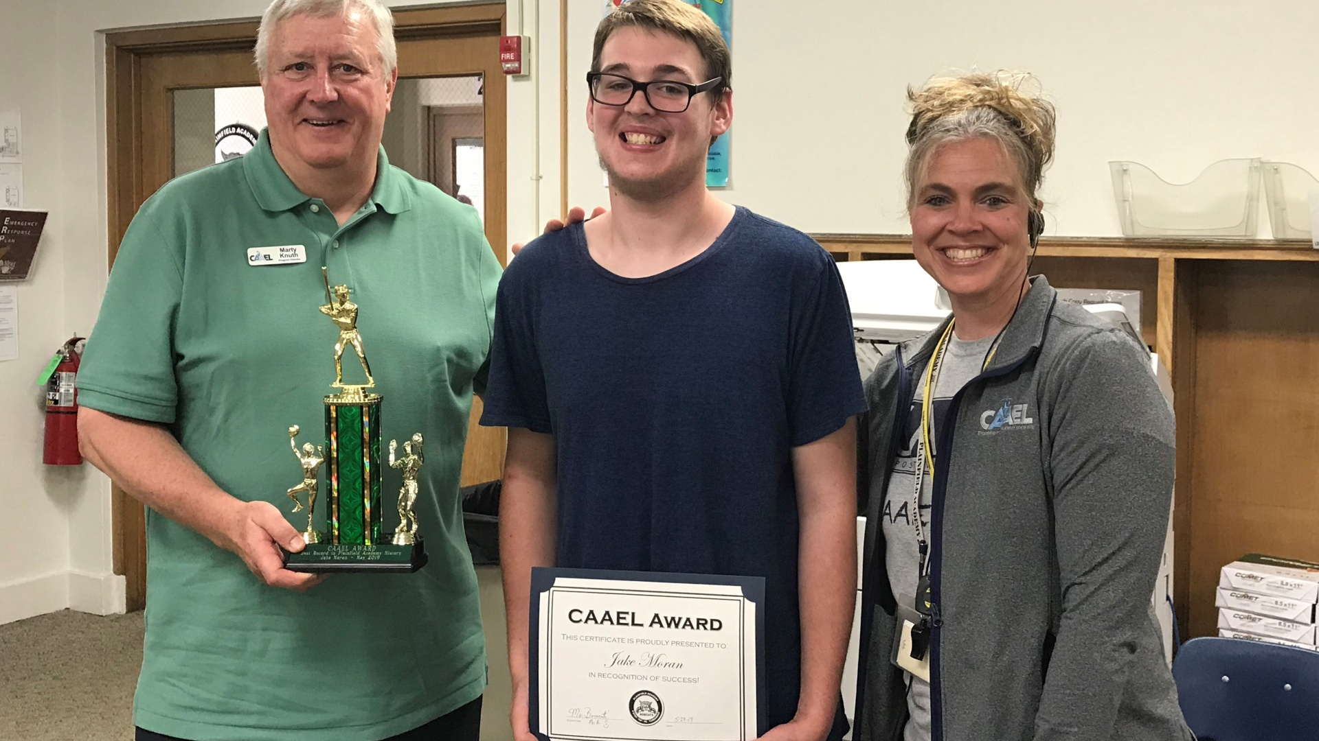 2018 - 2019 CAAEL Sportsmanship Award Winner